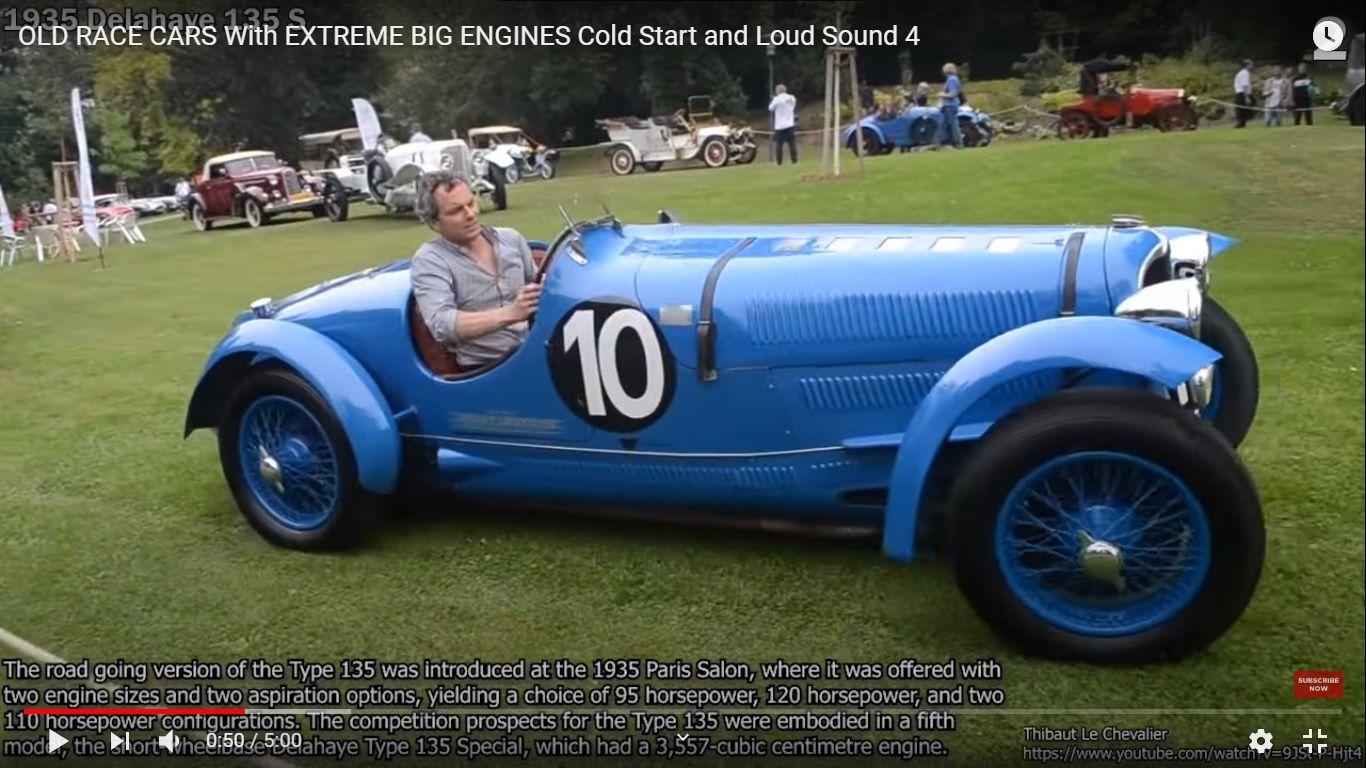 Видео о рычащих старых гоночных автомобилях